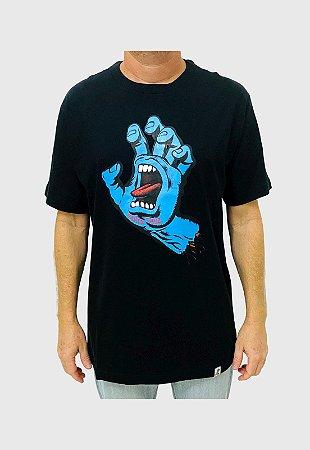 Camiseta Santa Cruz Screaming Hand Preta Masculina