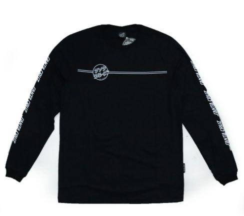 Camiseta Santa Cruz Manga Longa Bogus Hand Preta Masculina