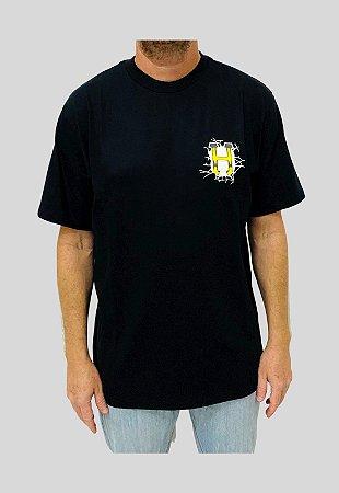 Camiseta Huf Silk Gigs Melted Preta Masculina
