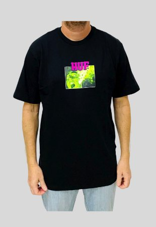 Camiseta Huf Silk Face Melter Preta Masculina