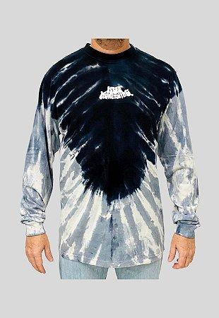 Camiseta Huf Esp Manga Longa Acid Test Preta Masculina