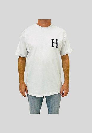 Camiseta Huf Silk Essentials Classic H Branca Masculina