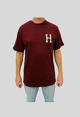 Camiseta Huf Silk Essentials Classic H Vermelha Masculina
