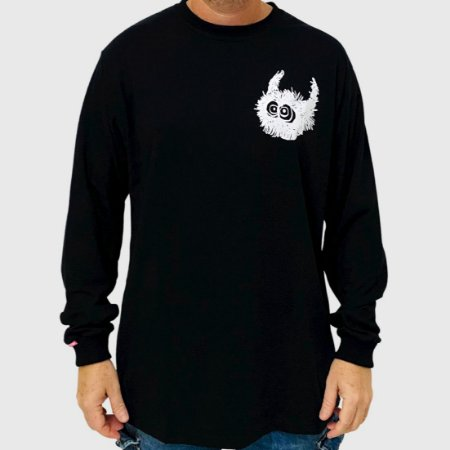 Camiseta High Manga Longa Spike Preto