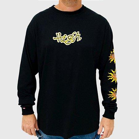Camiseta High Manga Longa Junglist Preto