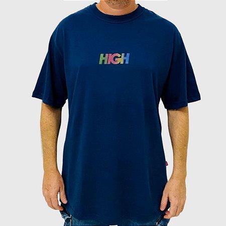 Camiseta High Logo Dots Azul