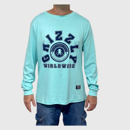 Camiseta Grizzly Manga Longa Homecoming Verde