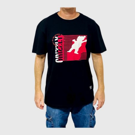 Camiseta Grizzly Lined Up Preto