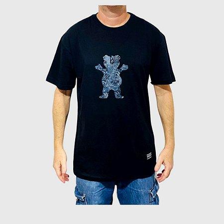 Camiseta Grizzly Paisley Og Bear Preto
