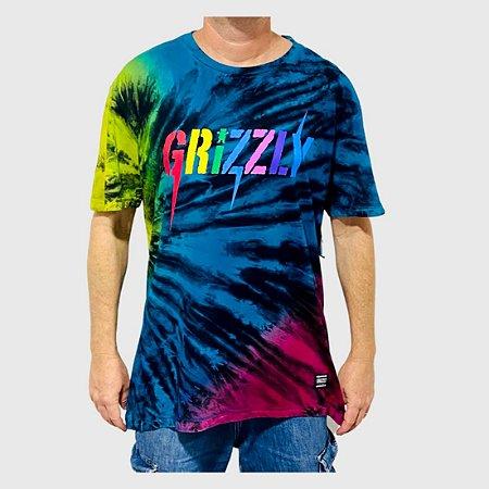 Camiseta Grizzly Incite Tie Dye Multicolorido