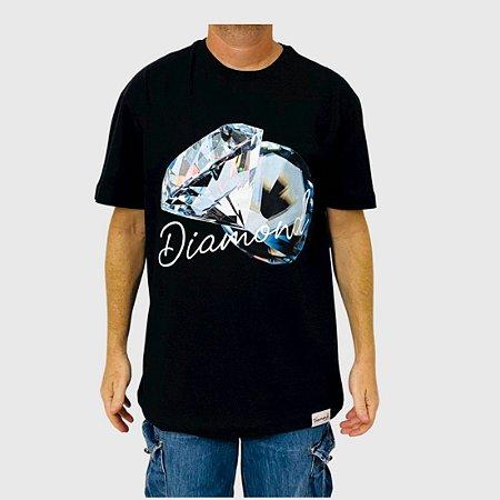Camiseta Diamond Reflection Preto