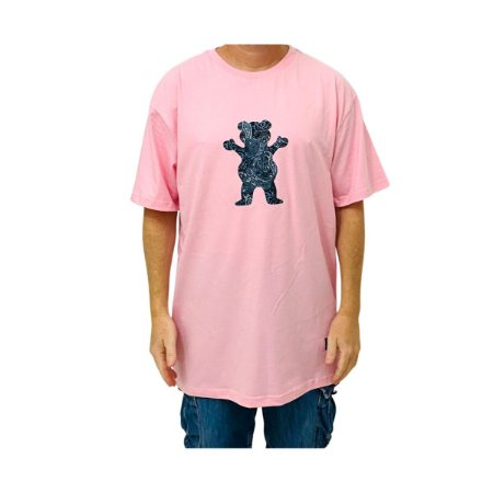 Camiseta Grizzly Paisley Og Bear Rosa