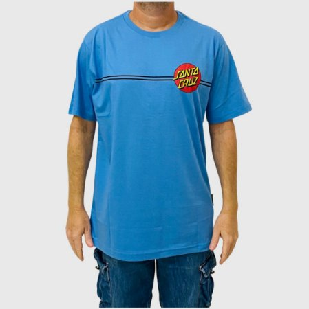 Camiseta Santa Cruz Classic Dot Azul Claro