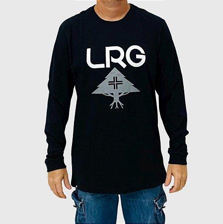 Camiseta LRG Manga Longa Stack Logo Preto
