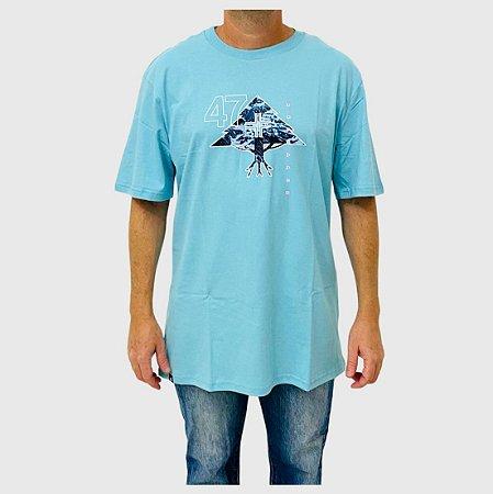 Camiseta LRG Mountain Azul Claro