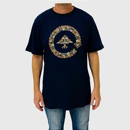 Camiseta LRG Aztec Azul  Marinho