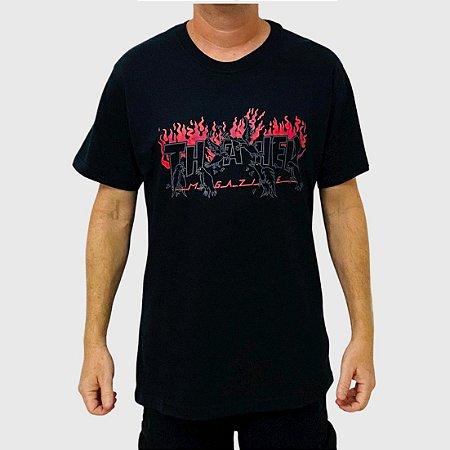 Camiseta Thrasher Crows Preto