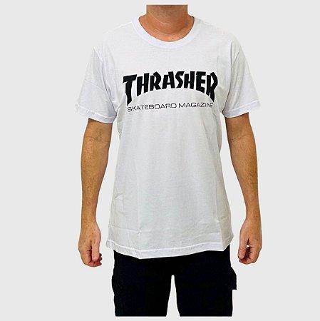 Camiseta Thrasher Skate Mag Logo Branco