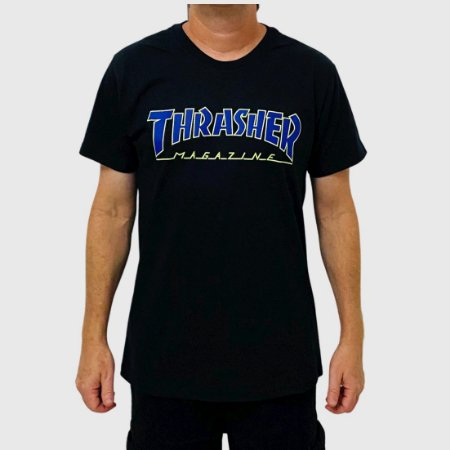 Camiseta Thrasher Outlined Preto