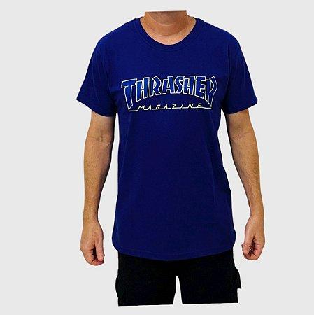 Camiseta Thrasher Outlined Roxo