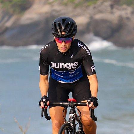 Camisa de Ciclismo Positive Brands Preta Feminino