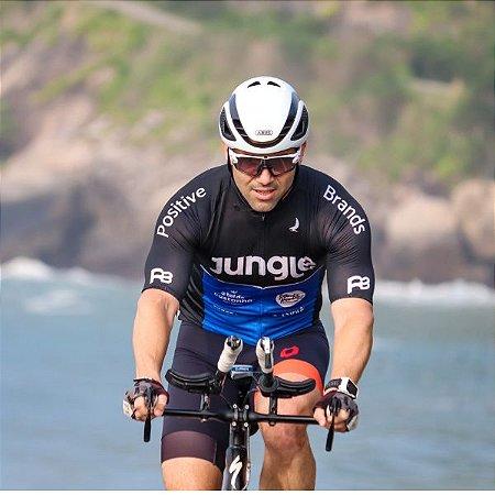 Camisa de Ciclismo Positive Brands Preta Masculina