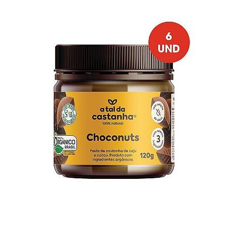 Pasta de Castanha Choconuts Orgânica - 120g - Cx c/ 06 und