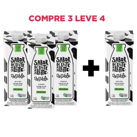 Combo Possible sabor leite Compre 3 leve 4