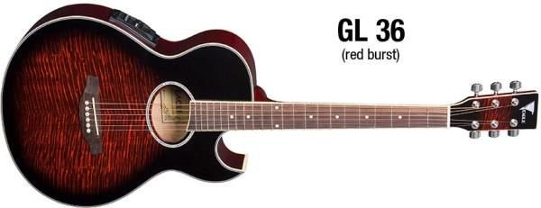 VIOLAO GL36RB RED BURST EAGLE ATIVO   UN