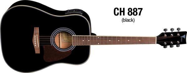 VIOLAO CH887BK BLACK EAGLE ATIVA FOLK UN