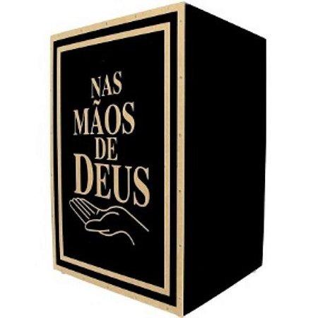 CAJON ACÚSTICO S100 MÃOS DE DEUS TIGER
