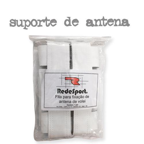Fita de Suporte para Fixação de Antena de VÔLEI c/ Velcro - COURO (par)