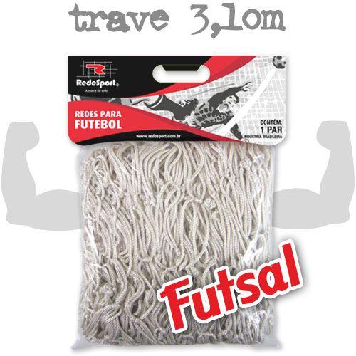Rede para Gol Trave Oficial Futebol de SALÃO poliéster - FUTSAL (par)