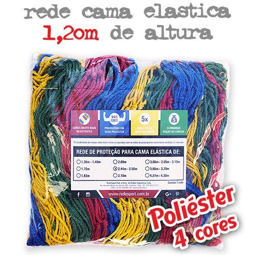 Rede de Proteção Colorida Lateral para Cama Elástica 1,20m de altura - (Poliéster 4 cores)