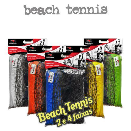 Rede de Beach Tennis ou Tênis de Praia Oficial com Amarração