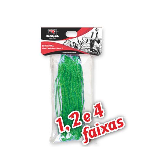 Rede para Quadra Vôlei Lazer Verde - 9,50m (1, 2 e 4 Faixas)