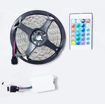 FITA LED COLORIDO 5M COM CONTROLE RGB SEM FONTE LEHMOX LEY-3528