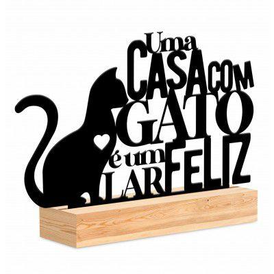 ENFEITE DE MESA UMA CASA COM GATO BRASFOOT