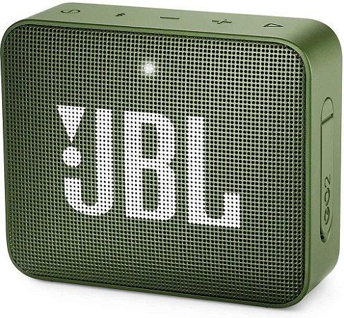 CAIXA SOM BLUETOOTH JBL GO 2 VERDE ORIGINAL IPX7
