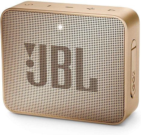 CAIXA SOM BLUETOOTH JBL GO 2 CHAMPAGNE ORIGINAL IPX7 7