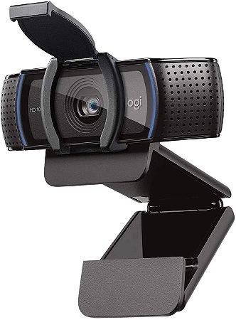 WEBCAM 2.0MP COM 2 MICROFONES FULL HD 1080P FOCO AUTOMATICO LOGITECH C920S