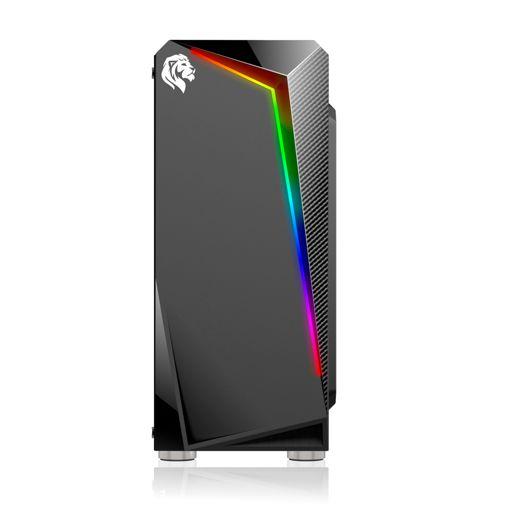 GABINETE GAMER HAYOM COM LED RGB  PRETO SEM FONTE GB1712