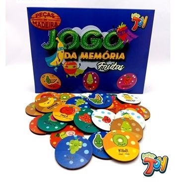 JOGO DA MEMORIA FRUTAS NA SOLAPA 24PCS 20X30 PAPEL CARTAO PAPER TOYS