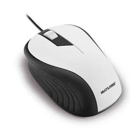 Mouse Multilaser Emborrachado Usb 1200Dpi - MO224