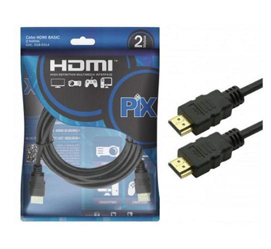Cabo HDMI Macho 1.4 3D Basic 2,0M Pix - 018-0214
