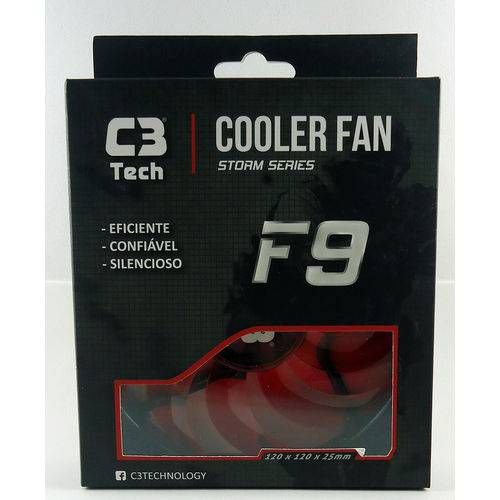 COOLER (120X120X25)(12V)(LED AZUL)(C3TECH)(F9-L100BL)