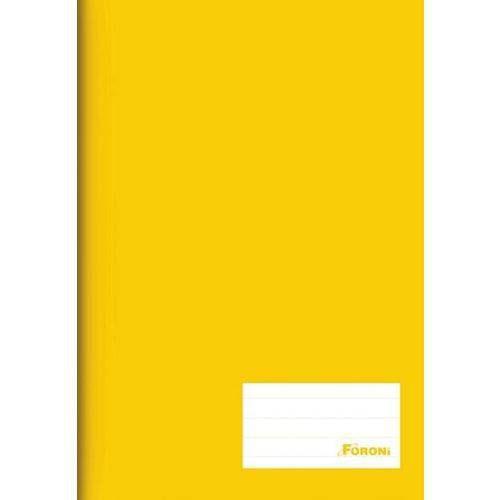 Caderno Brochura C/d 48 Folhas Costurado Amarelo Foroni