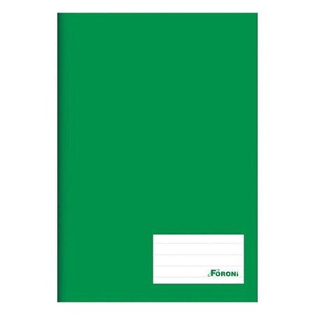 Caderno Brochura C/d 96 Folhas Costurado Verde Foroni