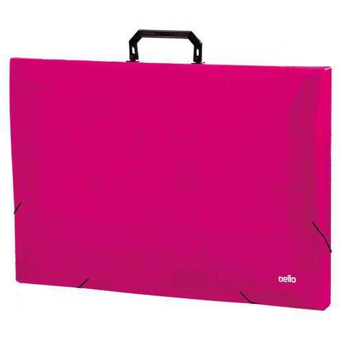 Maleta Plastica Com Alca Dellosmile A3 Pink Dello