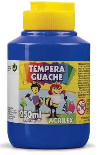 Tempera Guache 250ml Acrilex - Azul Turquesa